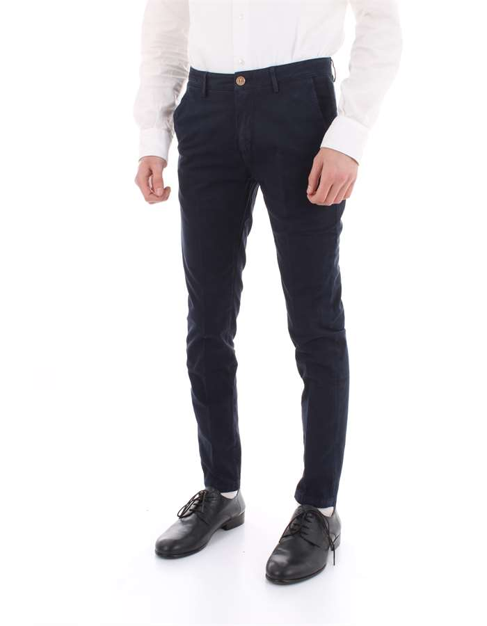 YAN SIMMONS Trousers Navy blue