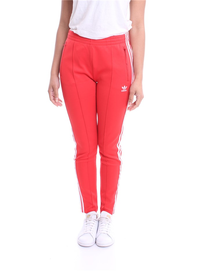pantaloni donna adidas rossi