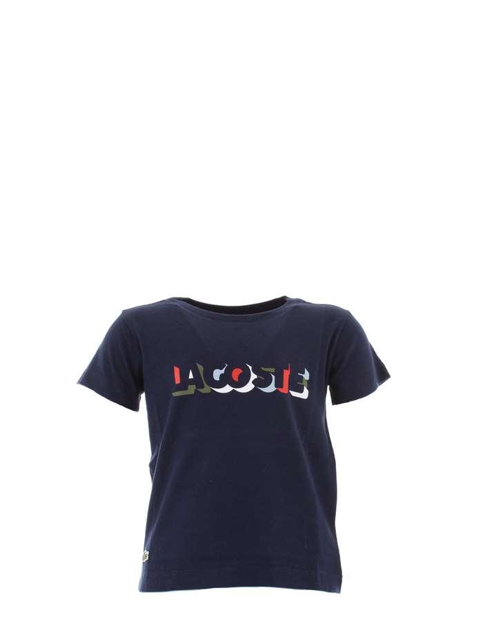 4cf1dc9ef476 T-shirt LACOSTE Bambino - Blu - Vendita T-shirt On line su Max 1980